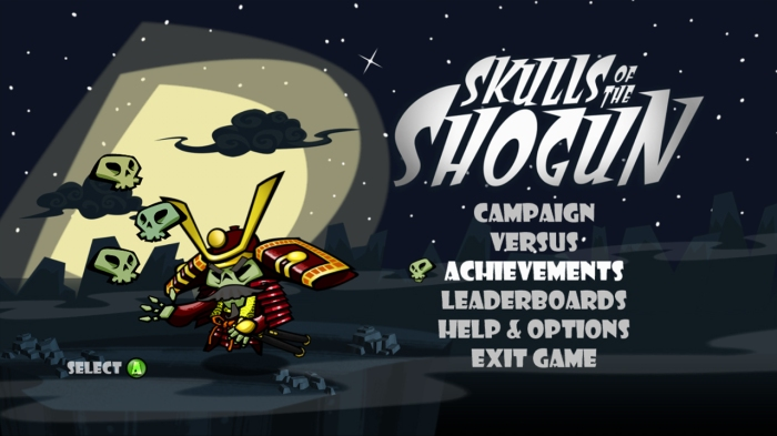 skulls of the shogun title screen
