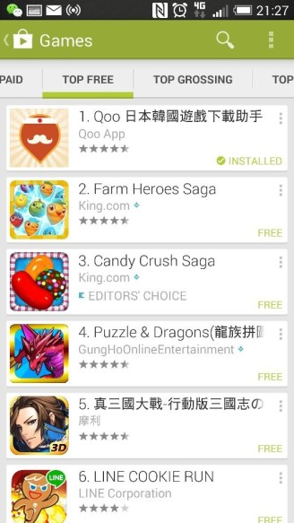 Top Free Game No.1